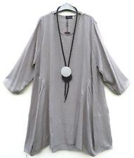 Classics & More Kleid Dress Robe Vestido 50% Leinen Linen XXXL 56 Lagenlook **