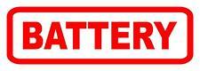 5 X Quantität 80 X 25 MM Rot Batterie Aufkleber Auto Bus Taxi Bedruckt Aufkleber