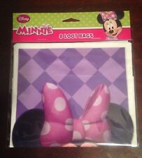 Disney Minnie Mouse Purple Birthday Party Favor Goodie Treat Loot Gift Bags
