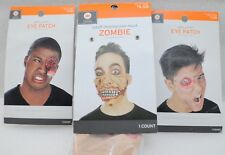 Halloween Decor Zombie Moving Jaw & Eye Patches