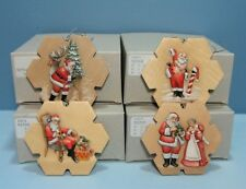 Very Rare! Anri Set of 4 Holiday Eve Series Limtd Editn Ornaments Lyndon Gaither