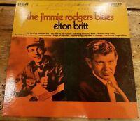 Elton Britt, The Jimmie Rodgers Blues  LP 1969 AUTOGRAPHED Signed LP Record