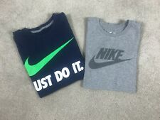 Men's Nike Size Small T Shirt Lot Of 2 Tees 1 Blue & 1 Gray Just Do It Swoosh