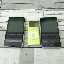 Ipod touch X2 with ipod nano x1 For spares or repairs untested