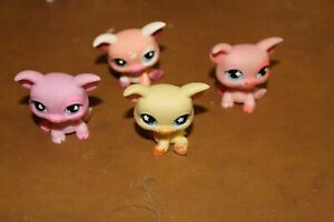 Littlest Pet Shop Lot of 4 Pigs Authentic FREE SHIPPING Lot # 6
