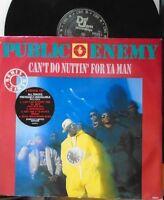 "PUBLIC ENEMY ~ Cant Do Nuttin For Ya Man ~ 4 TRACK 12"" Single PS LTD ED"