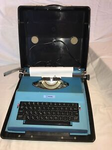 Vintage Royal Electric Typewriter Original Case Apollo 12 – Gt Blue