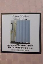 """Crest Home Collection Stacy Jacquard Fabric Shower Curtain 70"""" x 72"""" NIP"""