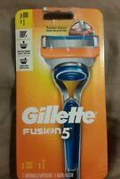 Gillette Fusion5 Men's Razor 1 Handle 1 Razor Blade Cartridges ~New in Box  ~NIB