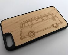 OXSY VW Camper / Transporter Genuine Bamboo Wood iPhone 6/6S Case Cover