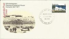 Australia Fdc 1977 50th Anniversary Opening Of Parliament House Canberra