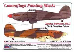 "AML Models 1/48 HAWKER HURRICANE Mk.II ""A"" PATTERN Camouflage Paint Mask Set"