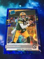 2020 Donruss Optic Jordan Love RC Rated Rookie Blue Scope Prizm Hanger Exclusive