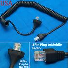 Replacement Mic Cable 8pin for Kenwood TK-7100 TK-7150 TK-7160 TK-7180 TK-760