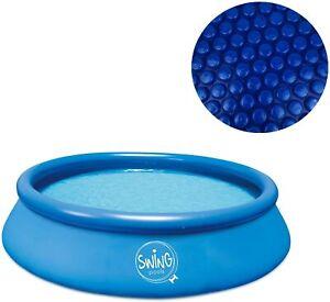 Quick-Up Pool Aufstellbecken Swing Ø457 x 122cm blau + Solarfolie well2wellness®