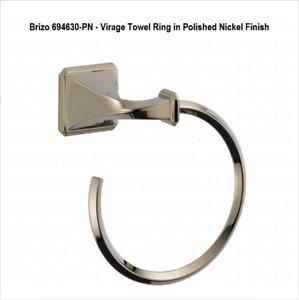Brizo 694630-PN - Virage Towel Ring in Polished Nickel Finish