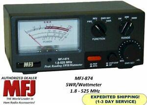 MFJ-874 Grandmaster SWR/Wattmeter, 200 Watts, 1.8-525 MHz, Two SO-239 Inputs