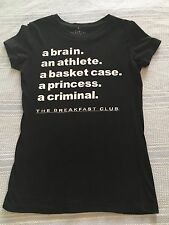 THE BREAKFAST CLUB JUNIOR SMALL BLACK SHORT SLEEVE T SHIRT