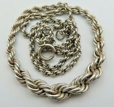 Hübsche 835 Silber Kordelkette-Halskette (44h)