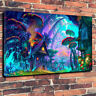 "Cool Fantasy Art Printed Box Canvas Picture A1.30""x20"". 30mm Deep Wall Art"