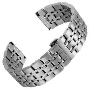Butterfly Solid Link Stainless Steel Brushed  Metal Watch Strap 20mm 22mm