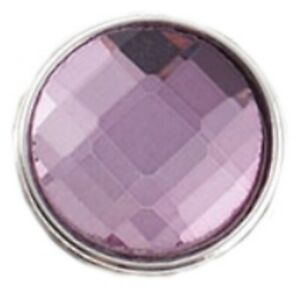Silver Purple Faux Crystal 20mm Snap Charm Button Jewelry For Ginger Snaps