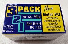 8 mm Metal MP video Cassette Tape 3 Pack