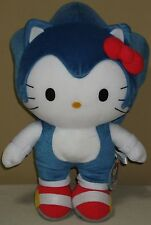 "Hello Kitty x Sonic the Hedgehog Plush Dolls Big 15"" 38cm Samrio 2012 SEGA NWT"