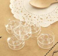 10 X Clear Bobbins - Sewing Machine Plastic Spool UNIVERSAL Fits Most Brands