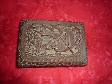 Antique 18thC CHINESE QIANLONG CINNABAR BOX.  1736 - 1795