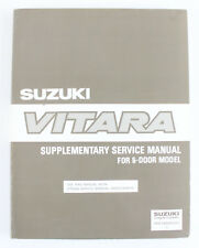 Vitara Suzuki  5dr 4WD workshop manual large supplement published 1991 as new