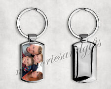 Personalised Metal Keyring Pet Dog Cat Your Photo Image With FREE GIFT BOX