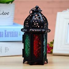 Hanging Moroccan Tea Light Candle Holder Lantern Garden Home Ornament Black