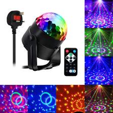 Sound Active RGB LED Stage Light Crystal Ball Disco Xmas Club DJ Party + Remote