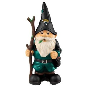"Jacksonville Jaguars Holding Stick Decorative Garden Gnome 10"" Yard Decor NEW"