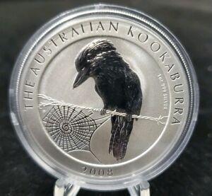 2008 Australian Kookaburra 1 Oz.999 Silver BU 1 dollar coin in Mint Capsule.