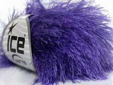 38Yd Perfectly Purple Extra Long Eyelash Yarn Ice Luxurious Fun Fur 42073 50Gram