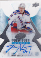 16-17 UD Ice Jimmy Vesey /199 Auto Rookie Premieres NY Rangers Upper Deck 2016