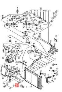 Genuine AUDI A4 S4 Cabrio quattro 8H7 Coolant Hose 8E0121030B