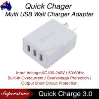 QC3.0 25W 3 USB Wall Charger Fast Charging Adapter AU Wall Charger for samsung
