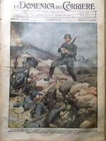 La Domenica del Corriere 2 Settembre 1917 WW1 David Devant Adriatico Carso Selo