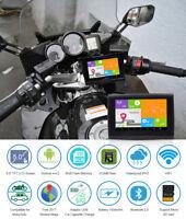 """5.0"""" Android Bluetooth Motorcycle Car Bike Waterproof GPS Navigation BT SAT NAV"""