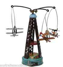 CAROUSEL PLANES TIN TOY MERRY GO ROUND CUTE TIN TOY WITH PRESS AND SPIN ACTION