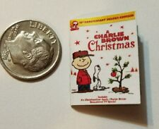 Miniature dollhouse Christmas book Barbie 1/12 Scale Charlie Brown Snoopy Peanut