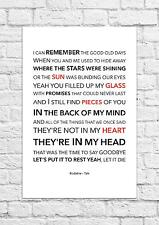 Kodaline - Talk - Song Lyric Art Poster - A4 Size