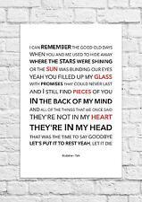 Kodaline - Talk - Song Lyric Art Poster - A4 Size