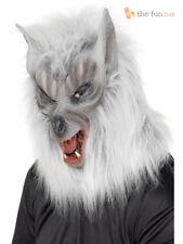 Halloween Werewolf Mask Adult Wolf Full Latex Horror Mens Fancy Dress Costume