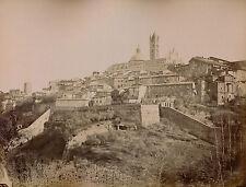 SIENNE c. 1875 - 2 Photos Vue Générale et Cathédrale Italie - 21
