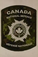 Canadian Forces CADPAT Fire Service National Defence Patch