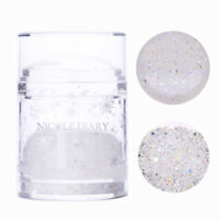 NICOLE DIARY Double Head Clear Silicone Nail Silikon Stamping Stamper Nail Tool